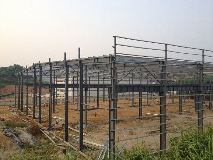 Prefabricated Steel Structure Warehouse , Light Gauge Industrial Steel Structures